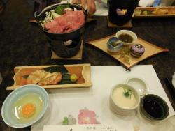 きん藤旅館自慢の深谷牛すき焼きセット