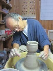 作陶の様子