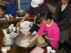 木綿豆腐づくり
