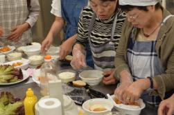 豆腐でバーガー作り