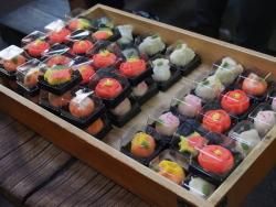参加者が作った和菓子