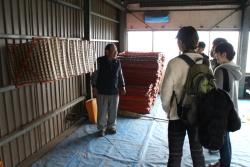 養蚕農家の見学